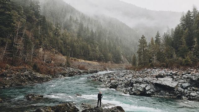 Fluss in den Bergen